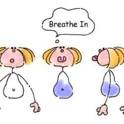 Meditation clipart deep breath