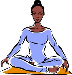 Meditation clipart fitness instructor