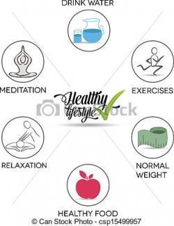 Meditation clipart healthy living