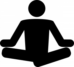 Meditation clipart icon