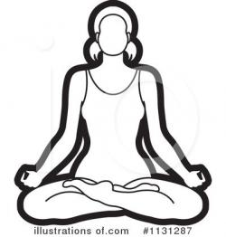 Meditation clipart illustration