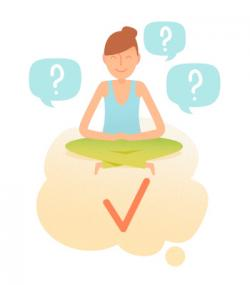 Meditation clipart intuition