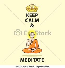 Meditation clipart keep calm