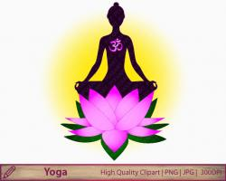 Meditation clipart lotus flower