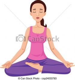 Meditation clipart peace mind