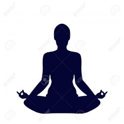 Meditation clipart silhouette