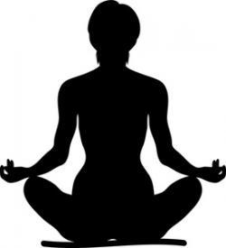 Meditation clipart yoga