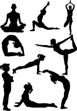 Meditation clipart yoga class
