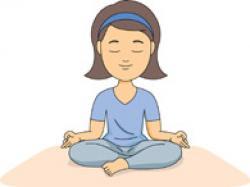 Meditation clipart yoga mat