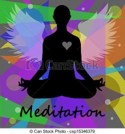 Meditation clipart yoga posture