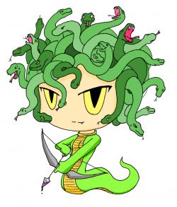 Medusa clipart cute