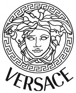 Versace clipart black and gold