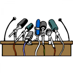 Microphone clipart press conference