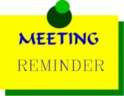 Notice clipart meeting reminder