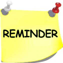 Calendar clipart meeting reminder