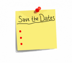 Post-it clipart save the date