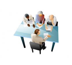 Desk clipart group interview