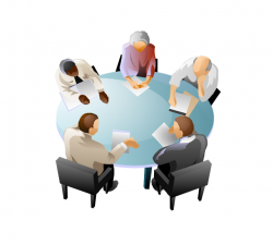 Panels clipart round table discussion