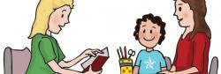 Staff clipart parent teacher conference