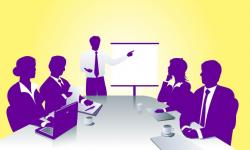 Panels clipart company meeting