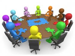Overview clipart business meeting
