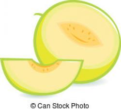 Honey Dew Melon clipart sliced