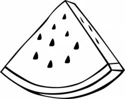 Melon clipart black and white