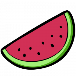 Papaya clipart half watermelon
