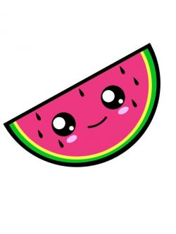 Drawn watermelon kawaii