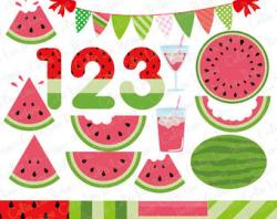 Watermelon clipart individual