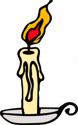 Melting Candle clipart cartoon
