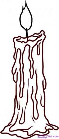Melting Candle clipart drawn