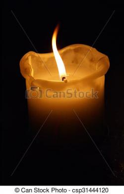 Melting Candle clipart lighted