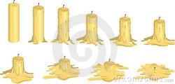 Melting Candle clipart melted