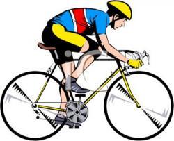 Men clipart biking
