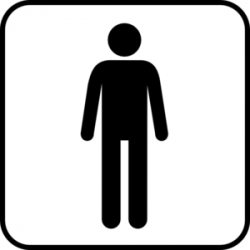 Men clipart black and white