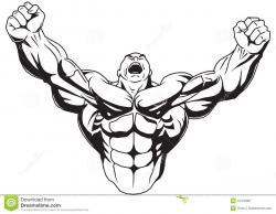 Rear clipart bodybuilder