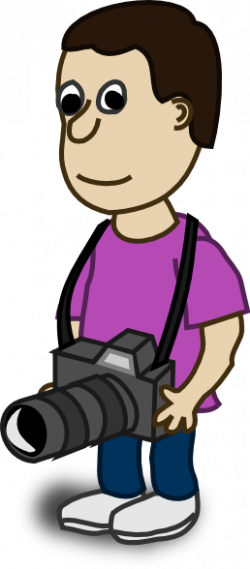 Men clipart camera