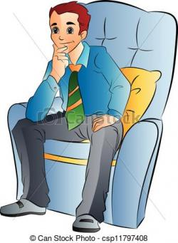 Men clipart chair