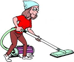 Women clipart cleaning house