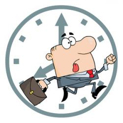 Men clipart clock
