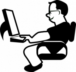 Men clipart computer