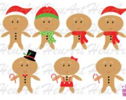 Gingerbread clipart cute button