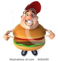 Men clipart hamburger