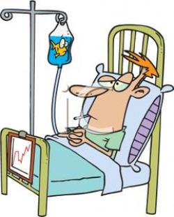 Men clipart hospital bed