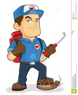 Men clipart pest control