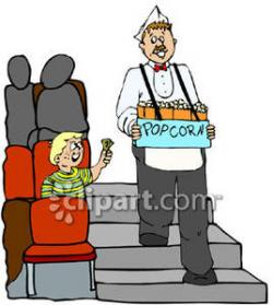 Men clipart popcorn