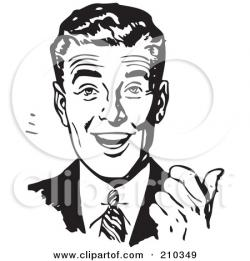 Men clipart retro