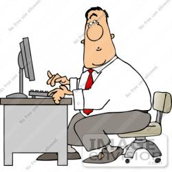 Men clipart secretary