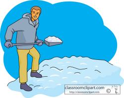 Men clipart shoveling snow